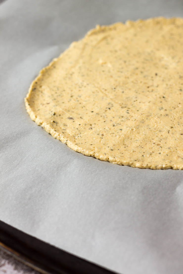Plantain pizza crust dough