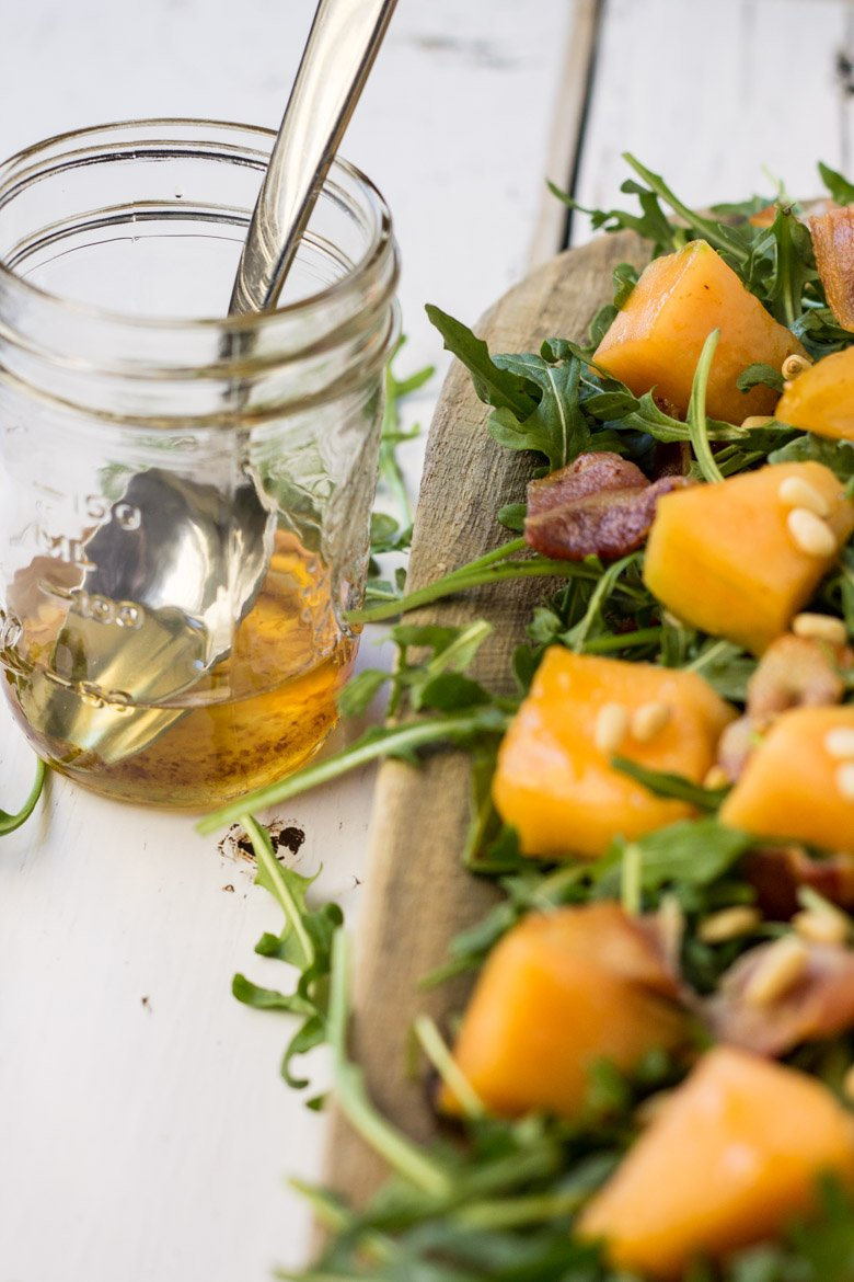 Simple ingredients for a healthy, easy salad. If you love bacon, you'll love this!