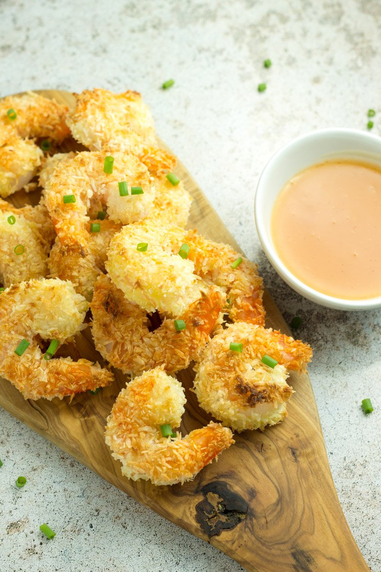 Coconut Shrimp with Pineapple Sriracha Dipping Sauce - 20 minute dinner for 2