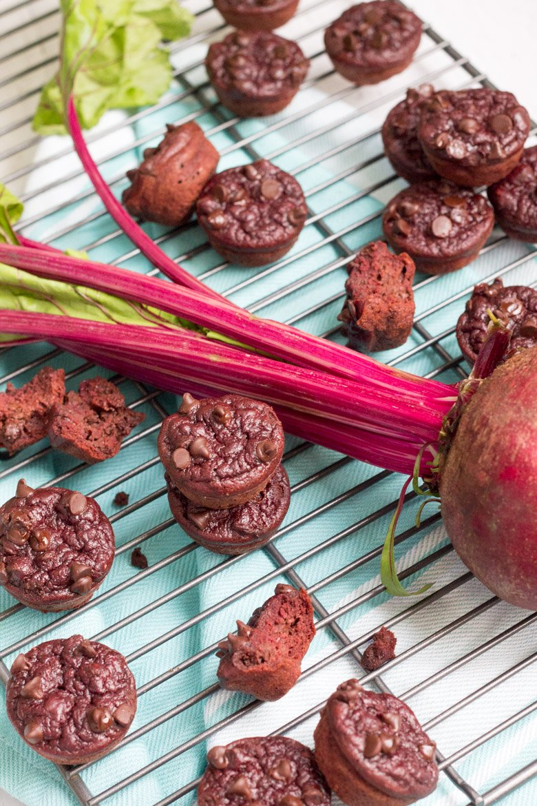 These paleo red velvet muffins are made with a secret ingredient - beets! Flourless and naturally sweetened.