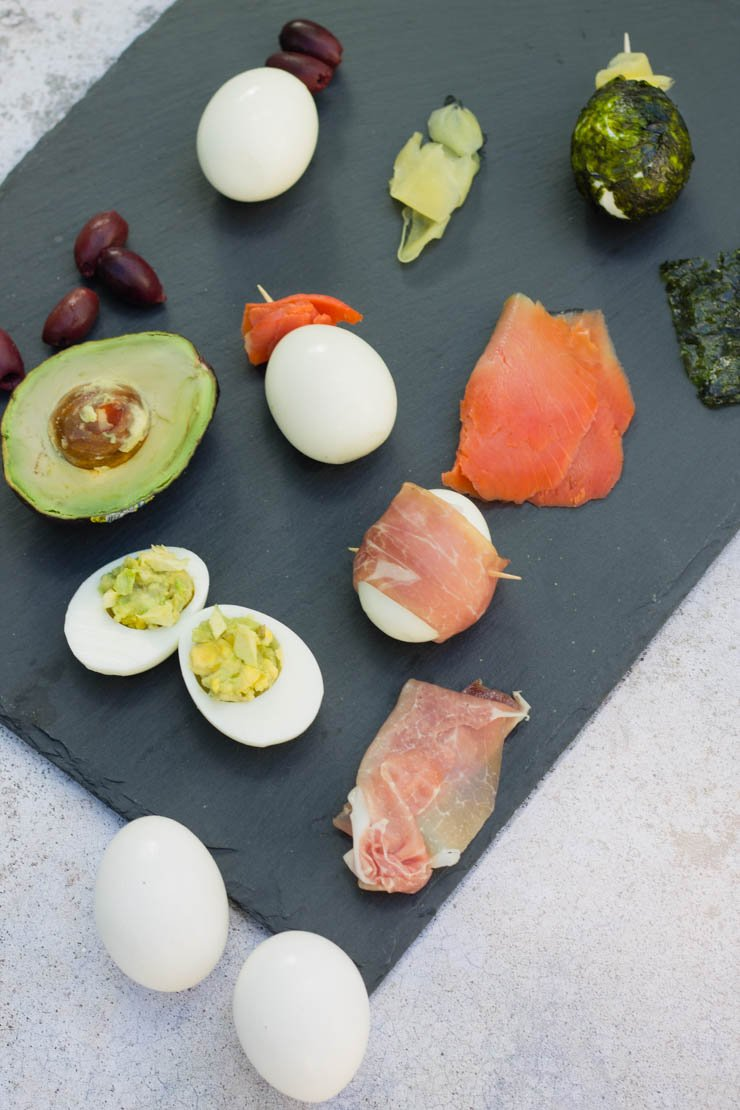 Hard boiled eggs don't have to be boring! These 5 variations will mix it up and keep you healthy. These paleo and Whole30 eggs will rock your breakfast, lunch, or snacking world!
