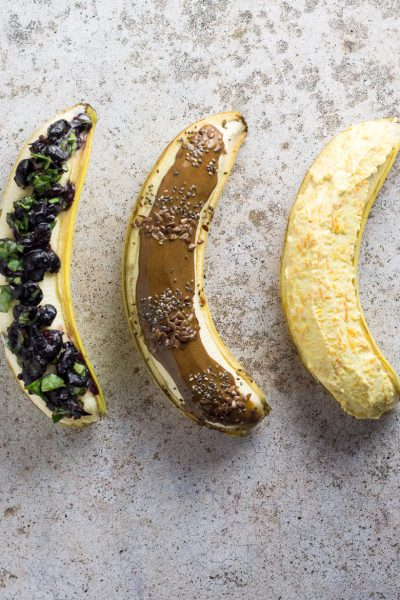Healthy Breakfast Banana Boats
