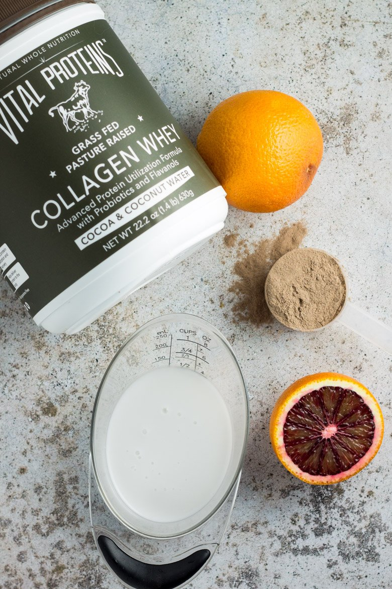 3 ingredient post-workout recovery shake with collagen and protein!