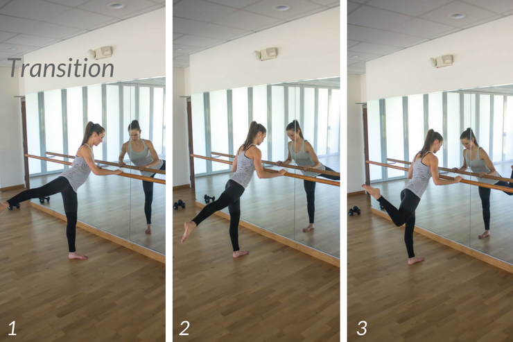 10 minute express barre workout you can do at home! Transition to hamstring/glute work