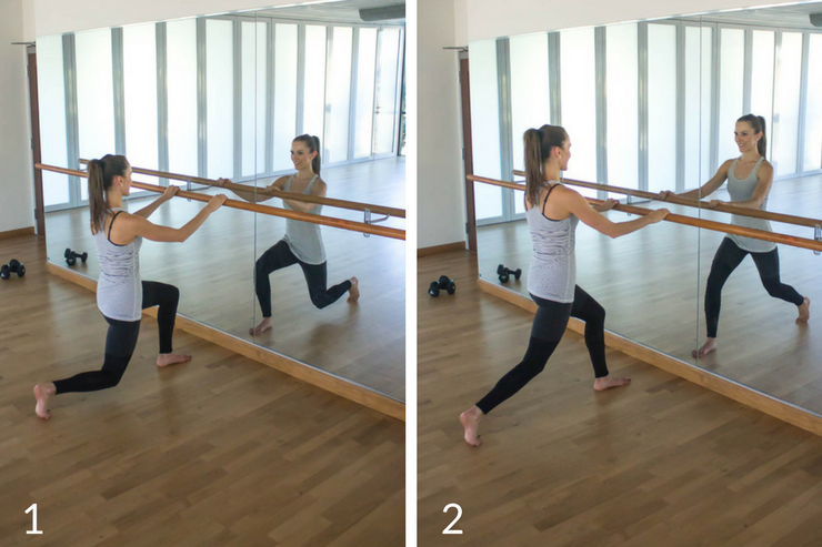 10 minute express barre workout you can do at home! Front lunge pulses