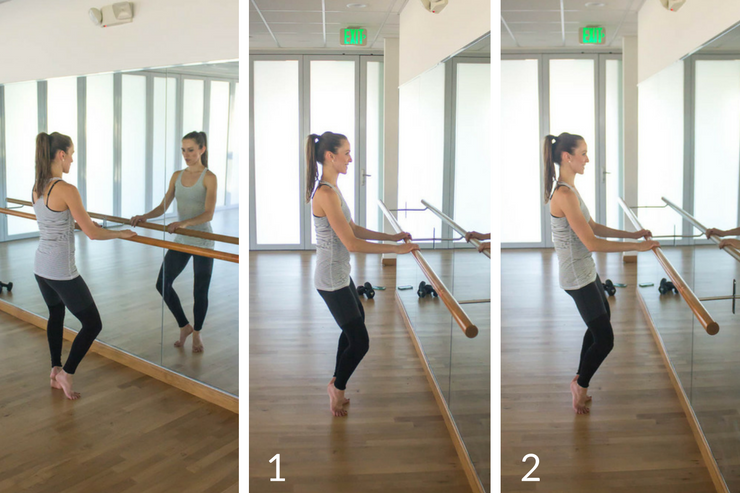 10 minute express barre workout you can do at home! Second position tucks
