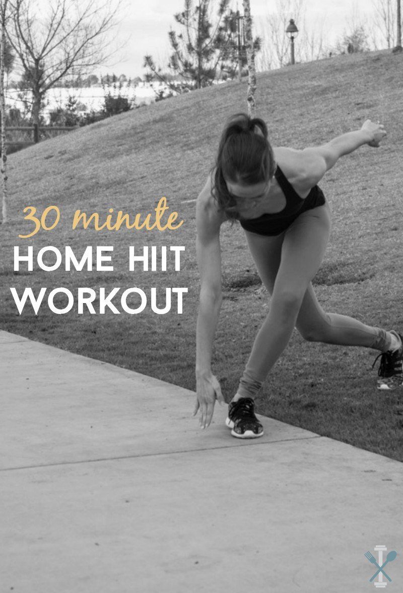 A HIIT workout you can do at home, in 30 minutes! This will blast your heart rate and give you an amazing cardio challenge, right in your living room! No equipment required.