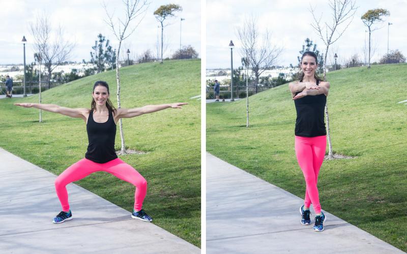 30-minute home hiit workout - squat cross jacks