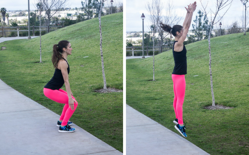 30-minute home hiit workout - squat hops