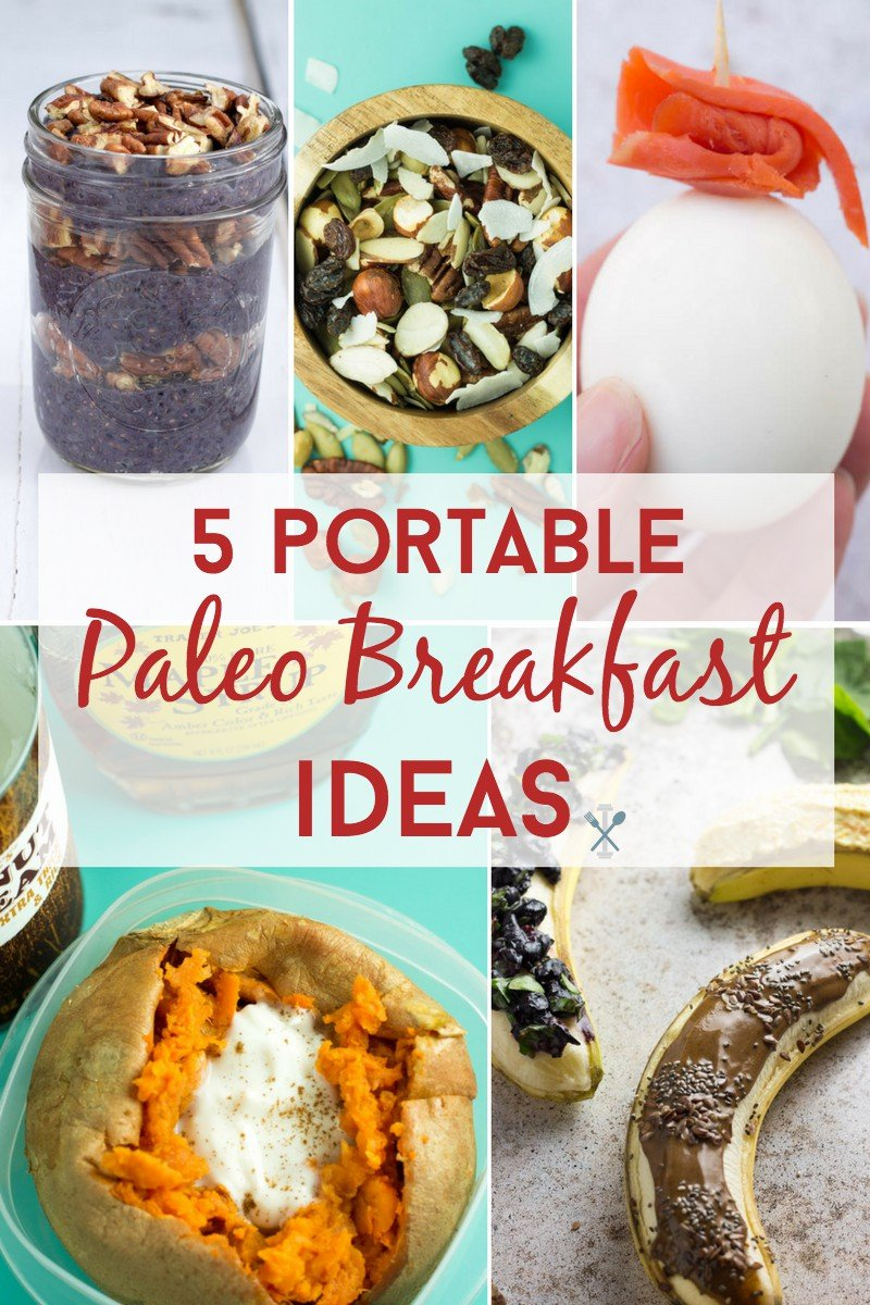 These paleo breakfast ideas are portable and perfect for mornings on the go! Egg and eggless options!