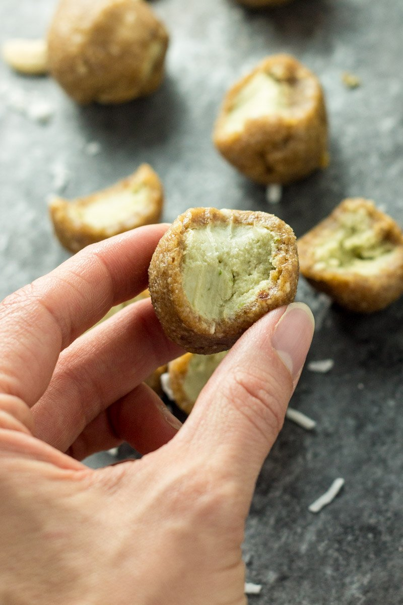 The perfect healthy snack or dessert - paleo key lime pie energy balls. Naturally sweetened and dairy free