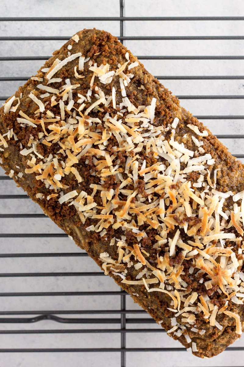 A paleo breakfast bread that will have your taste buds singing! Toasted coconut and cold brew coffee combined into every delicious slice
