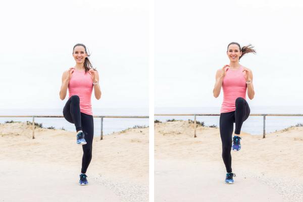 No equipment home cardio workout - high knees