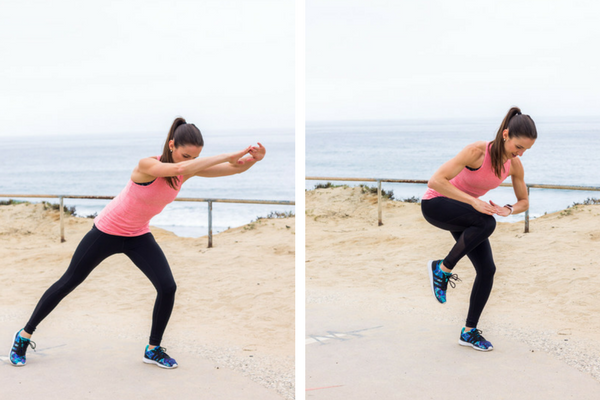 No equipment home cardio workout - plyo power knees