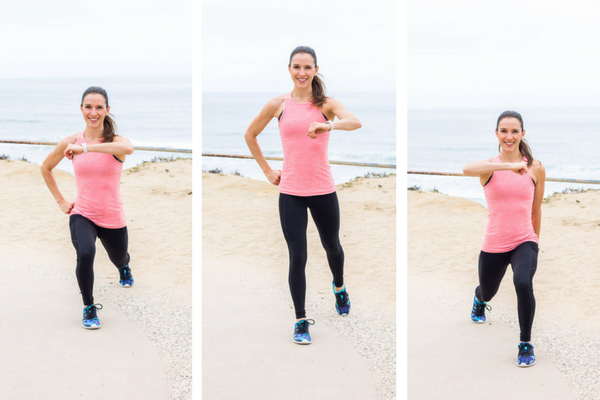 No equipment home cardio workout - plyo lunge hooks