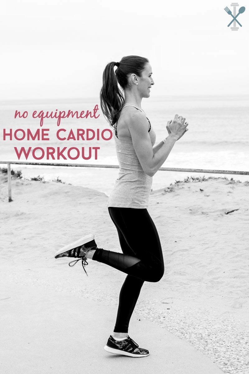 A killer cardio workout you can do at home, with NO equipment required! Burn calories and get your heart rate up quick, with this 20 - 30 minute cardio circuit