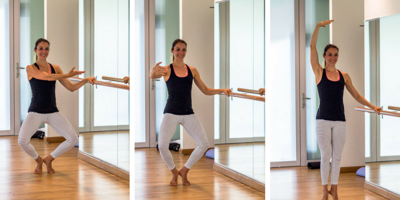 20 minute home cardio barre first position pulse