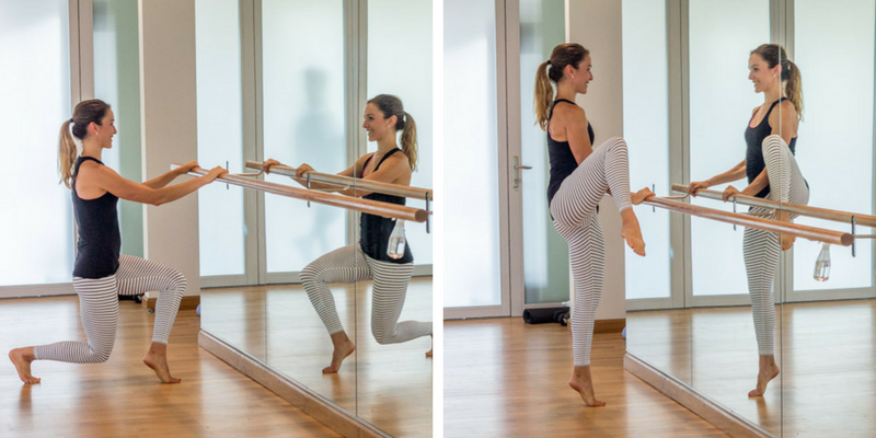 20 minute home cardio barre lunge lifts