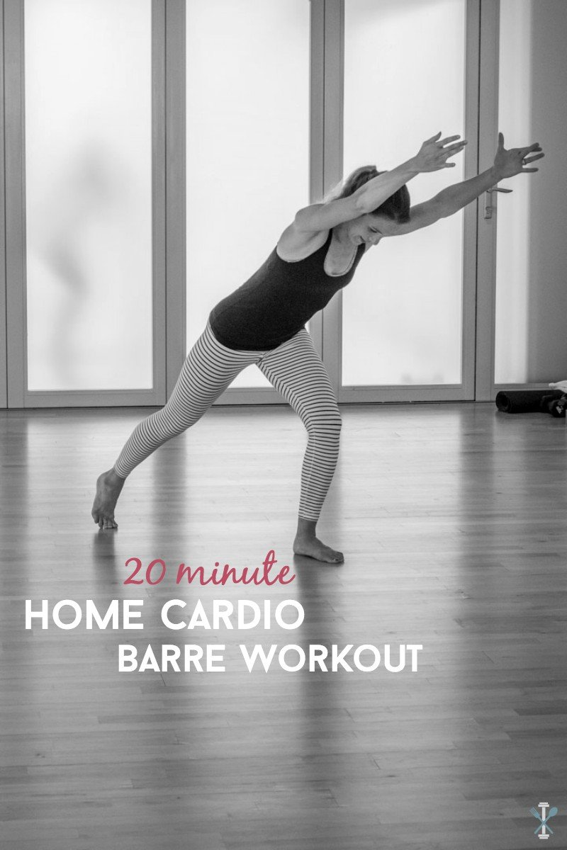 This home barre workout is a cardio blaster! Sculpts and tones your lower body while keeping your heart rate up. The perfect at home barre workout with full instructions