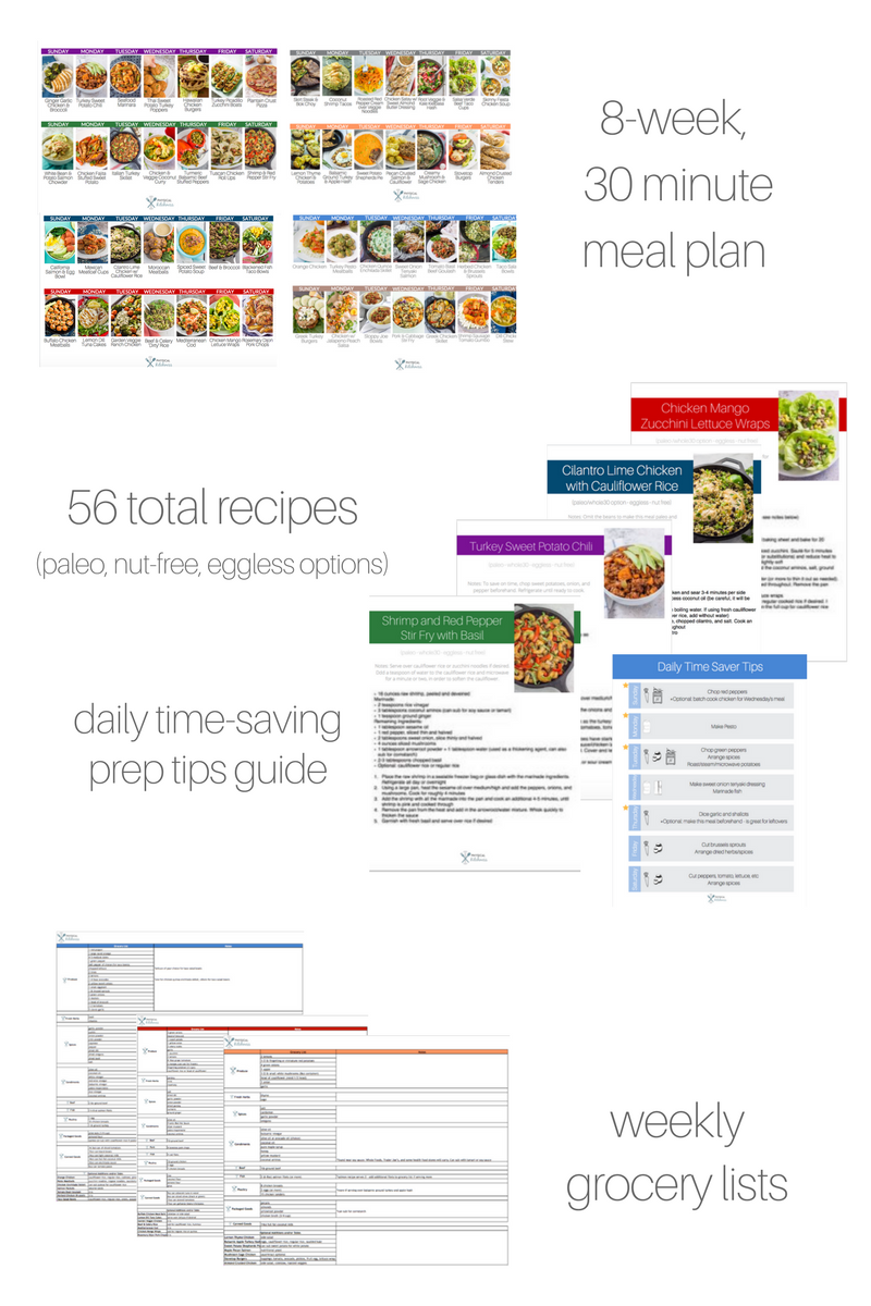 8-Week Meal Plan (56 Recipes)