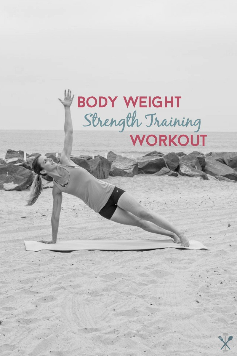 This strength training routine is perfect anywhere. No equipment and no gym required. A complete upper body and lower body strength workout.
