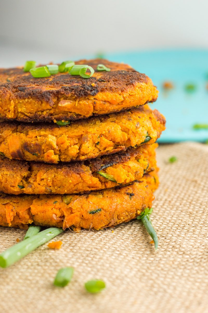 These paleo sweet potato zucchini burgers are also Whole30 compliant. An easy and simple veggie-based burger!