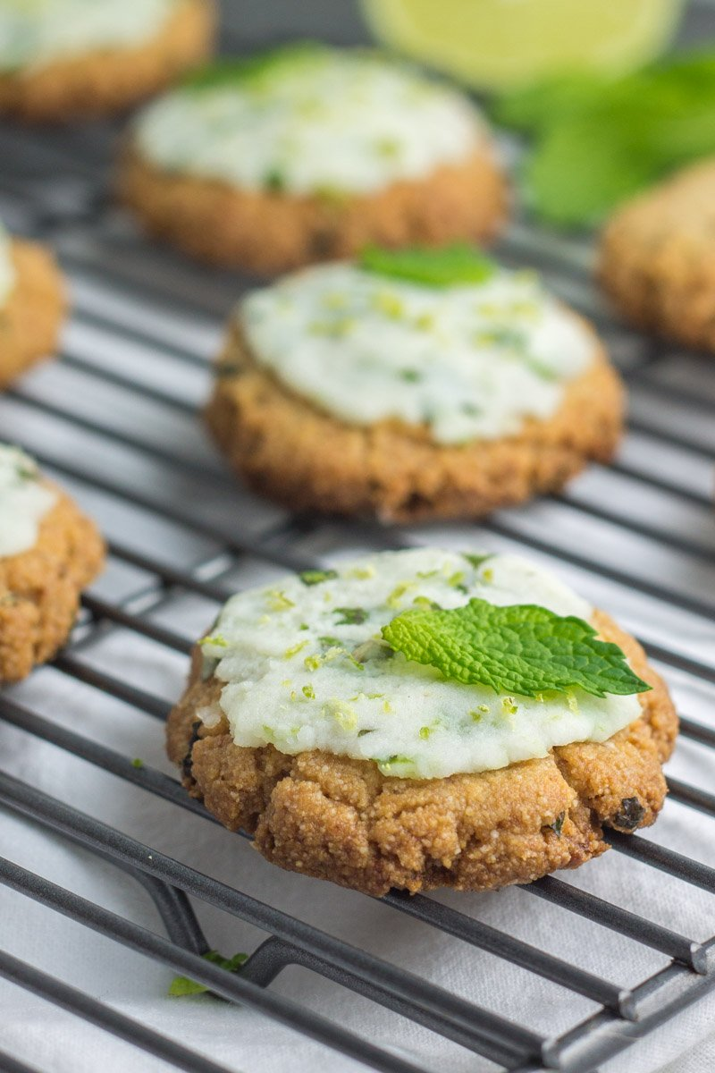 These gluten free, eggless, and paleo mojito cookies are made with only 5 simple ingredients!