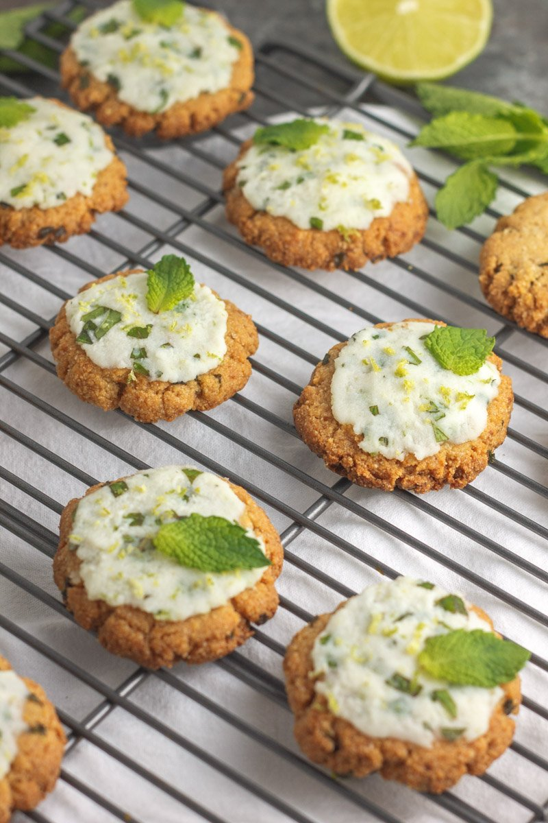 Eggless and paleo mojito cookies. Made with only 5 ingredients!
