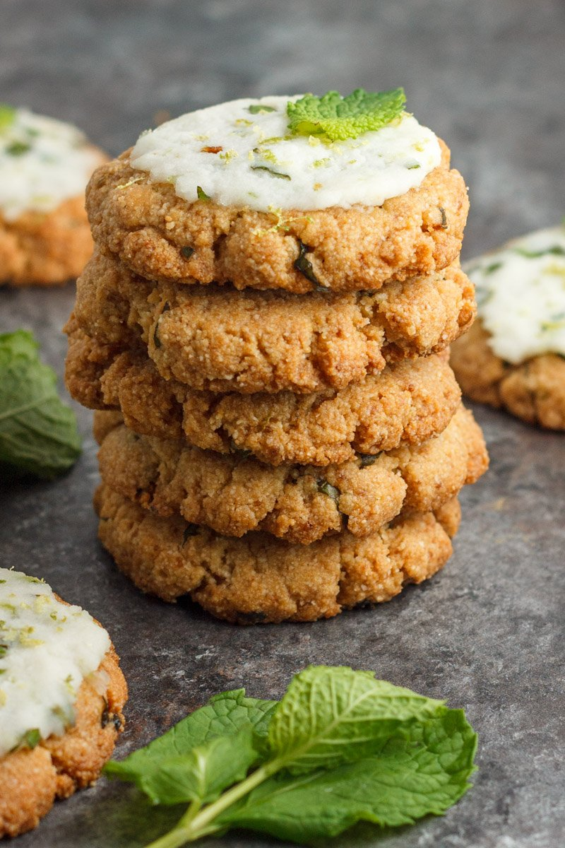 Eggless and paleo mojito cookies. Made with only 5 ingredients! Gluten free
