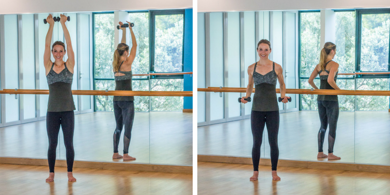 Advanced Sculpted Barre Arms - overhead press