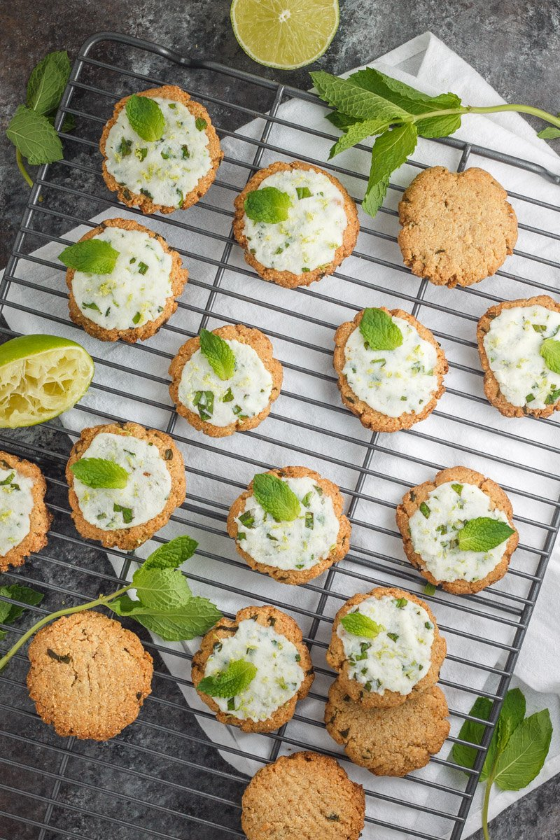 Simple mojito cookies made with only 5 ingredients. These are gluten free, eggless, and paleo!