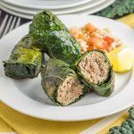 Paleo and Whole30 Italian Turkey Kale Roll Ups. A quick way to combine nutrient-dense leafy greens with lean protein packed with savory spices.