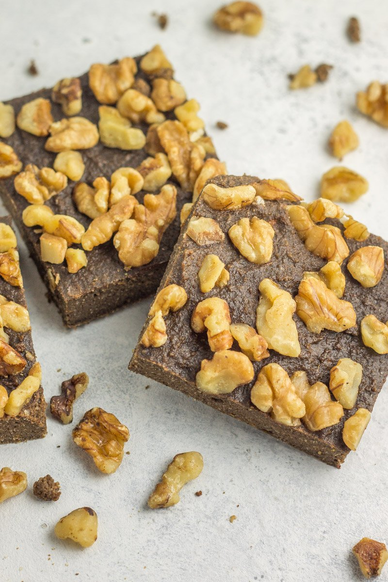 These protein brownies are not only paleo, they are made with sweet potato! Add nuts to the top for crunch and eat as a post-workout snack