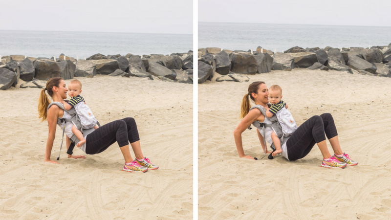 total body babywearing workout tricep dips