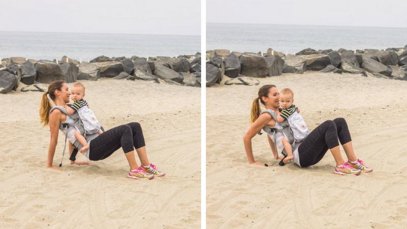 total body babywearing workout tricep dips