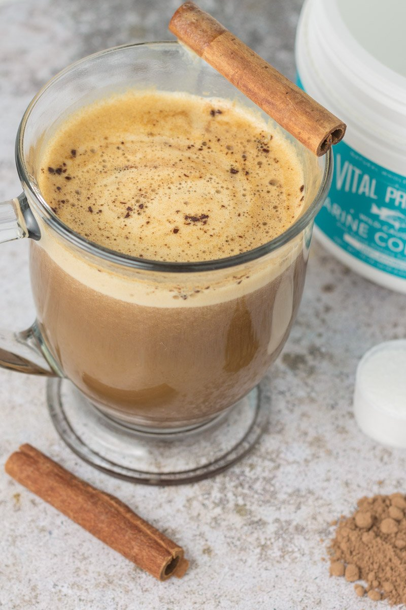 Mexican cocoa mocha - a healthy (and paleo) holiday coffee drink with collagen