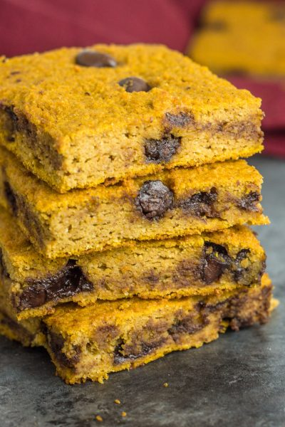 Paleo Chocolate Chip Pumpkin Blondies