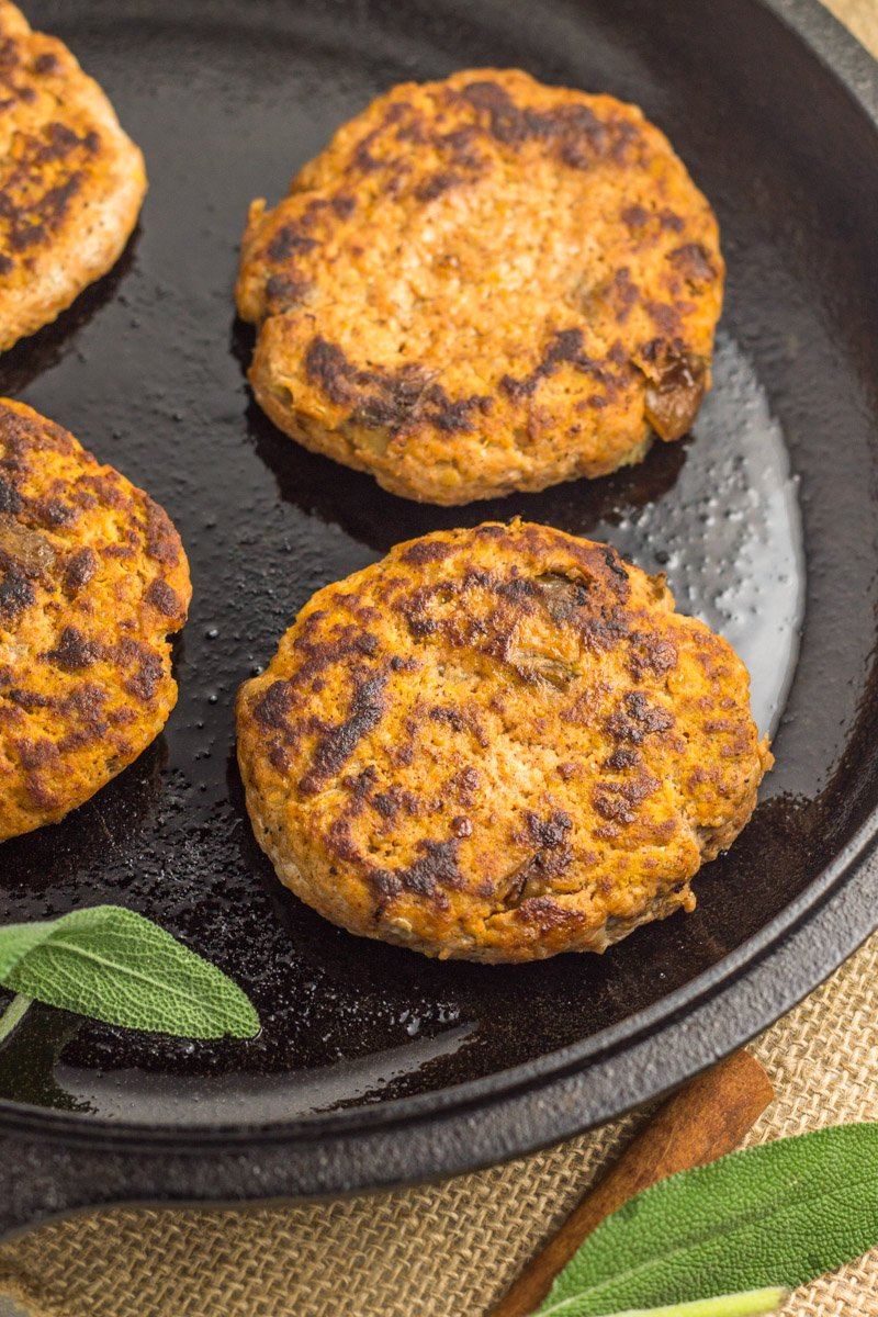 Pumpkin breakfast sausage patties - made with 4 simple ingredients. It's the perfect way to get your pumpkin fix in this fall, while staying paleo and Whole30 compliant