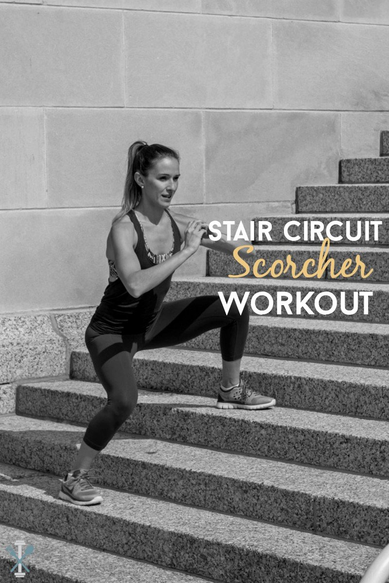A full body cardio and strength training workout for stairs. Blast calories quickly with this stair workout