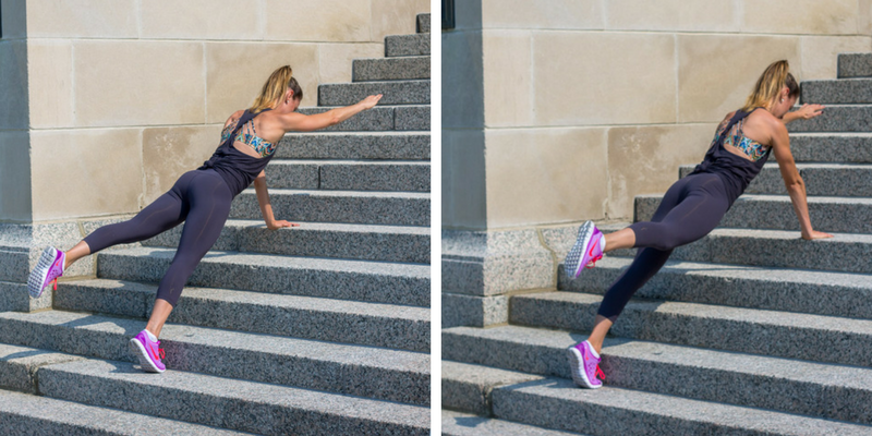 Stair Circuit Scorcher - balance planks