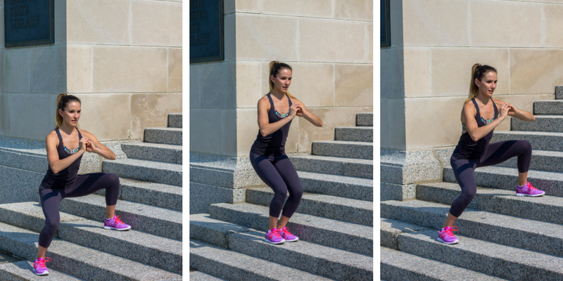 Stair Circuit Scorcher - lateral squats