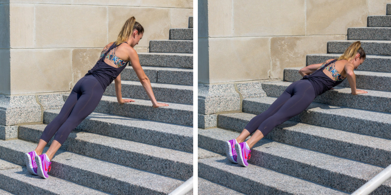 Stair Circuit Scorcher - pushups