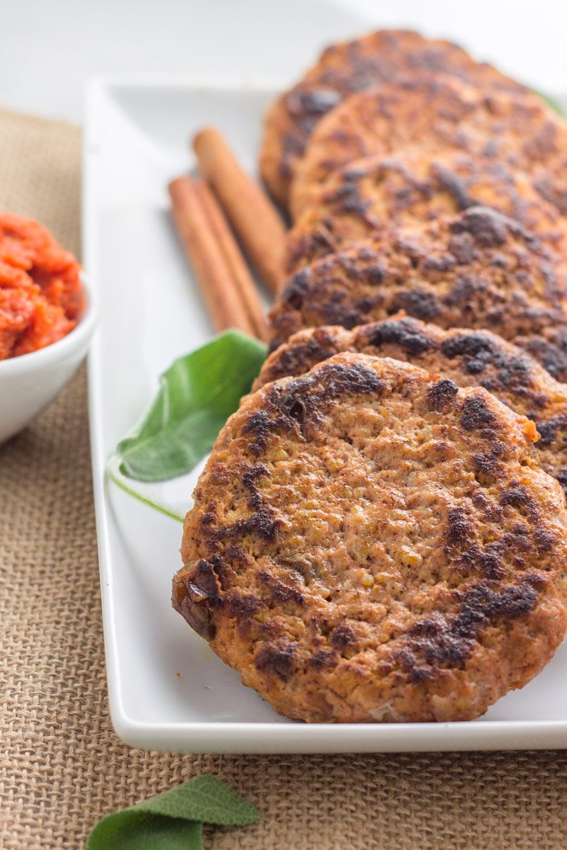 An eggless breakfast that's high protein and bursting with pumpkin flavor! The BEST Whole30 sausage patties.