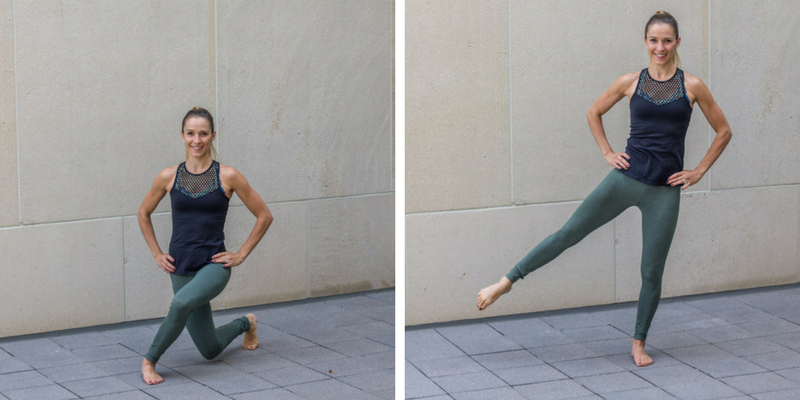 No Bare Barre Workout - curtsy lunge lifts