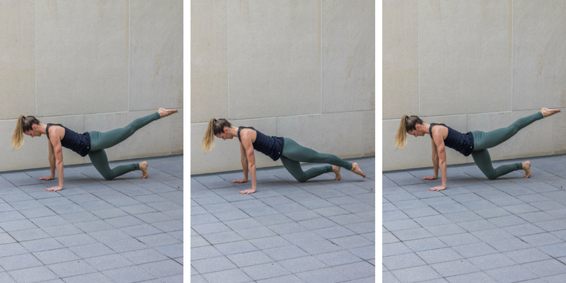 No Bare Barre Workout - glute lifts