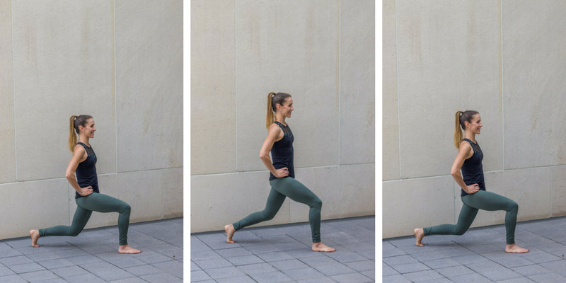 No Bare Barre Workout - lunge pulses