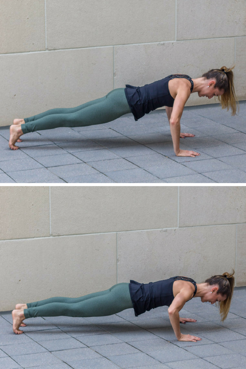 No Bare Barre Workout - pushup pulses