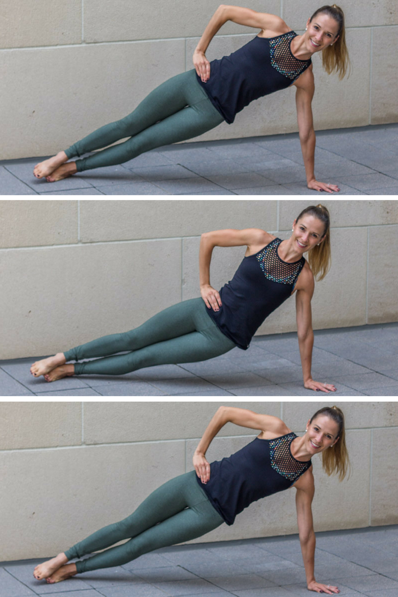 No Bare Barre Workout - side plank hip lifts