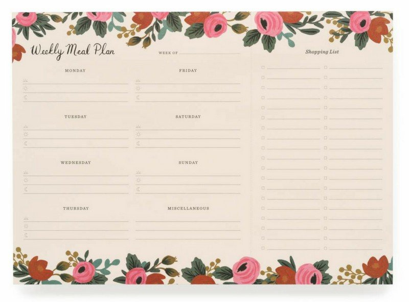 Rifle meal planner - the perfect girlfriend or teacher gift