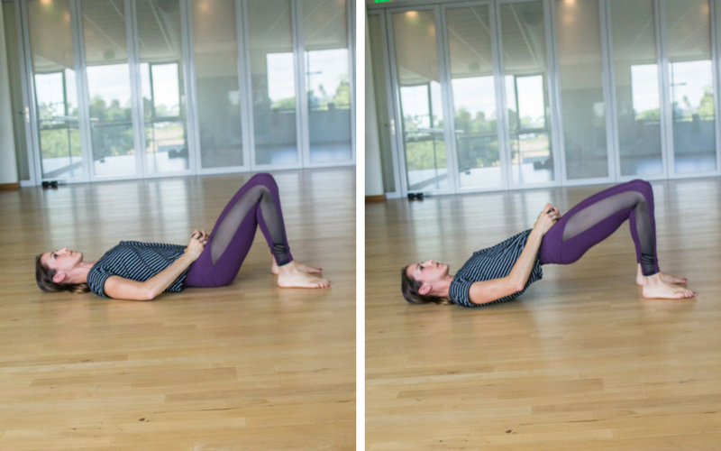 Diastasis Friendly Fully Body Workout - Weighted Glute Bridge